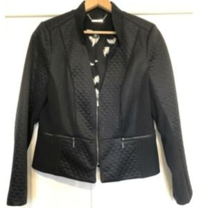 WHITE HOUSE BLACK MARKET Black Jacket Zip Sz 14